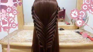 getlinkyoutube.com-peinados de mariposa con trenzas faciles para cabello largo bonitos y rapidos para niña a la escuela