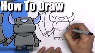 getlinkyoutube.com-How To Draw Mini Pekka from Clash Royale- EASY Chibi - Step By Step - Kawaii