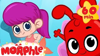 getlinkyoutube.com-Mermaid Girl Meets Morphle and Mila! +1 hour funny Morphle kids videos compilation)
