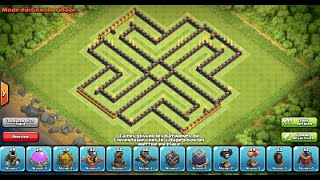 "getlinkyoutube.com-Clash of Clans: New Update 275 walls/murs! Best Farming Base ""Labyrinth"" HDV10/TH10"