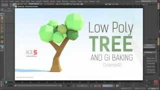 getlinkyoutube.com-Tutorial: Low-Poly Paper Tree & GI Baking in Cinema 4D