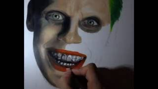 getlinkyoutube.com-Drawing Jared Leto | Joker from the suicide squad.