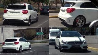 getlinkyoutube.com-Mercedes Benz A45 AMG & A45 AMG Edition 1 - Fast Fly By On the Road
