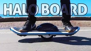 getlinkyoutube.com-Halo Board, Hoverboard Scooter! REVIEW