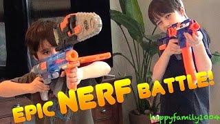 getlinkyoutube.com-Nerf War: Epic Nerf Blaster Battle!