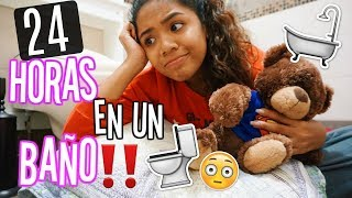 24 HORAS ENCERRADA EN UN BAÑO *NO LO SOPORTO!!* | Johanna De La Cruz width=
