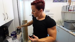 getlinkyoutube.com-Female Bodybuilder Karolina Borkovcova - Get Lean 2015 vol.2