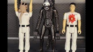 getlinkyoutube.com-Funko ReAction Alien Wave 2: Kane (chestburster, facehugger) and Alien review