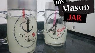 getlinkyoutube.com-DIY: Mason Jar (Copo/Jarra com canudo)