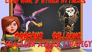 getlinkyoutube.com-Clash of Clans DRAGON + BALLOON (DRAGLOON) 3 STAR EP.1