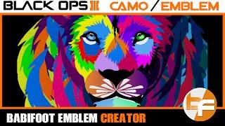 getlinkyoutube.com-Black Ops 3 Emblem Tutorial #037 - Animal Art Lion #Babifoot