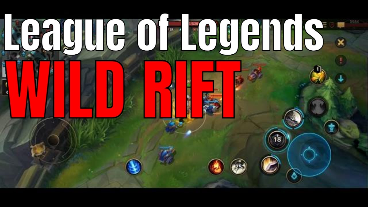 League of Legends Mobile Wild Rift free2play