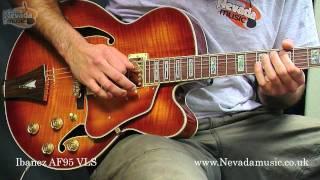 getlinkyoutube.com-Ibanez Artcore AF95 Semi Jazz Guitar Violin Sunburst Demo - PMT
