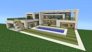 getlinkyoutube.com-Minecraft Tutorial: How To Make A Modern Mansion
