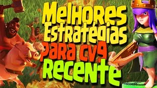 ESTRATÉGIA DE ATAQUE PARA CV9 RECENTE NA GUERRA - 3 ESTRELAS CLASH OF CLANS