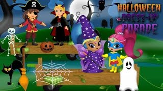 ★ Halloween Dress Up Parade - Dora & Friends, Shimmer & Shine (Make a Halloween Scene)