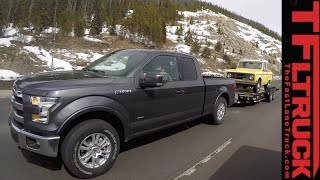 getlinkyoutube.com-2015 Ford F-150 2.7L EcoBoost takes on the Grueling IKE Gauntlet Towing Test Review