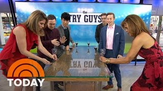 BuzzFeed's The Try Guys Play Flip Cup With Hoda And Jenna | TODAY
