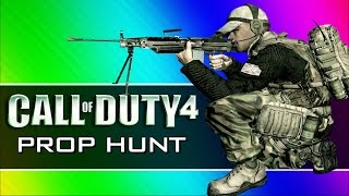 getlinkyoutube.com-Call of Duty 4: Prop Hunt Funny Moments - First Blood, Claymore Tutorial, Yellow Crates! (CoD4 Mod)