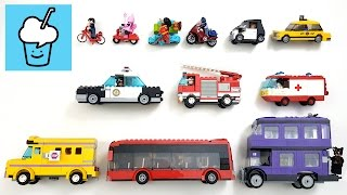getlinkyoutube.com-learning street vehicles name and sound for kids with lego レゴ batman movie marvel characters
