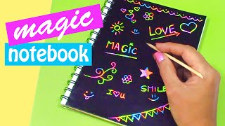 getlinkyoutube.com-DIY crafts: MAGIC NOTEBOOK (Back to school) - Innova Crafts