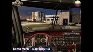 getlinkyoutube.com-Euro Truck Simulator 2 - MAP COLOMBIA - Santa Marta a Barranquilla