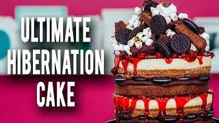 getlinkyoutube.com-How To Make My ULTIMATE HIBERNATION CAKE! Piled High With Cheesecake, Cherries, Brownies & Ganache!