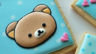 getlinkyoutube.com-How To Decorate A Rilakkuma Cookie