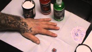 getlinkyoutube.com-HOW ALL 3 PRODUCTS WORKS  STENCIL BOND  STENCIL ON TATTOO STENCIL REMOVER