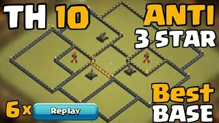 getlinkyoutube.com-Clash of Clans - TH10 War Base ANTI 3 STAR with REPLAYS (Anti Miner-Valkyrie))