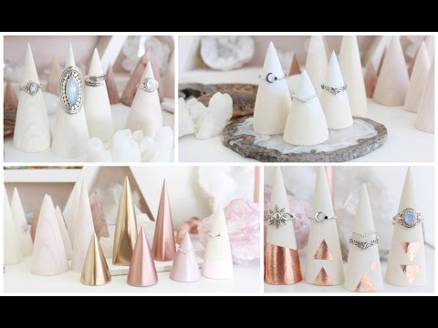 DIY Ring Displays | Decorative Wood Cone Ideas
