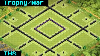 getlinkyoutube.com-Clash Of Clans | Th8 Anti-Air Trophy/War Base + Replay 2014 [DraGONE]