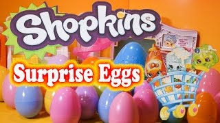 SHOPKINS SURPRISE EGGS 25 Surprise Candy Surprise  Toys Video