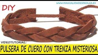 getlinkyoutube.com-COMO HACER UNA PULSERA CON TRENZA MISTERIOSA DE CUERO PARA HOMBRE . VIDEOTUTORIAL TUTORIAL DIY
