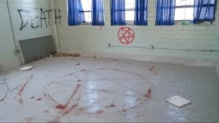 getlinkyoutube.com-(ABANDONED SCHOOL)  SATANIC RITUAL Part 2 GHOST SLAMS DOOR SHUT