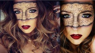 getlinkyoutube.com-Masquerade Lace Mask Halloween Makeup Tutorial | Ashley Landry
