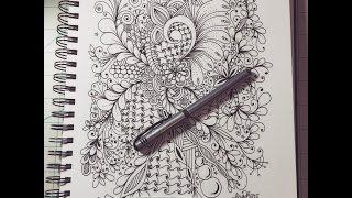 getlinkyoutube.com-zentangle, zendoodling, patterns and swirls