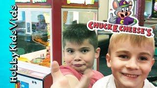 getlinkyoutube.com-Chuck E Cheese Arcade! TICKET BONUS WIN + Family Fun Gaming HobbyKidsTV