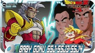 getlinkyoutube.com-Baby Goku SSJ, SSJ3, SSJ4 | Goku mata a su Familia(SSJPAN,GOHAN,GOTEN)Dragon Ball Budokai Tenkaichi3