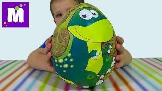 getlinkyoutube.com-Динозавры огромное яйцо с сюрпризами открываем игрушки Giant surprise egg dinosaurs toys