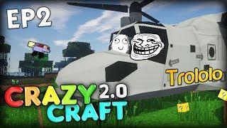 getlinkyoutube.com-THE TROLL CHOPPER OF DOOM, CRAZY SCARE - Minecraft CrazyCraft 2.0 Ep 2 (Minecraft Mods)