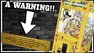 ★The Vendor Left A WARNING Label On This Claw Machine!!! Arcade Crane Game Wins!!