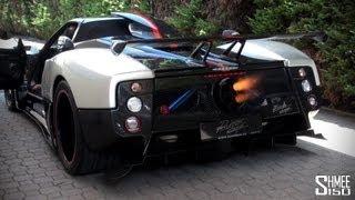 getlinkyoutube.com-Pagani Zonda Cinque Roadster FLAMETHROWER!