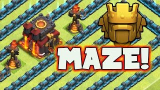 "getlinkyoutube.com-Clash of Clans: ""Titan MAZE Base!"" 