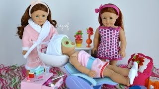 getlinkyoutube.com-American Girl Doll Spa Day