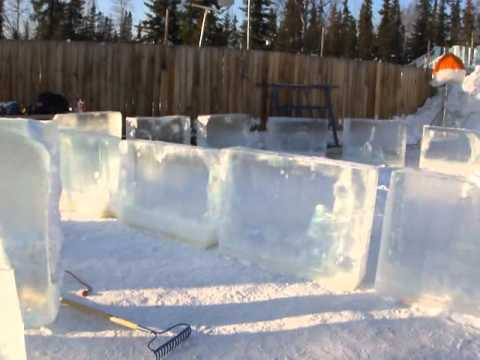 World Record Ice Bar Construction in Progress part 2