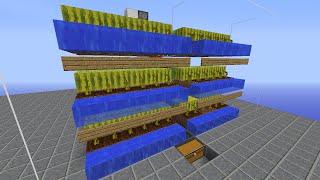 Minecraft 1.9対応 回収率高め!多段式スイカ&カボチャ収穫機