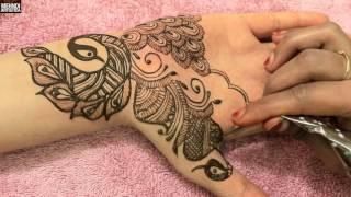 getlinkyoutube.com-Beautiful Peacock Henna Mehndi Design Bridal Mehandi DIY Designer Hands Tattoo Art