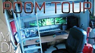 getlinkyoutube.com-Epic Room Tour - Triple Monitor Gaming Setup, Home Music Studio and Airsoft Gear