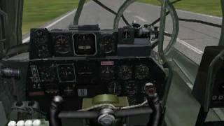 getlinkyoutube.com-B-29 that lost it's fuselage can still fly !!!! IL2 1946